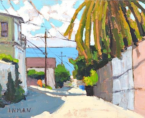 """Alley in Ocean Beach"" original fine art by Kevin Inman"