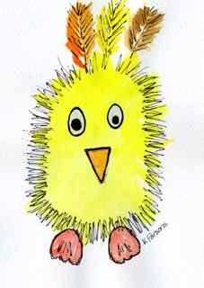 """Happy Chick"" original fine art by Kali Parsons"