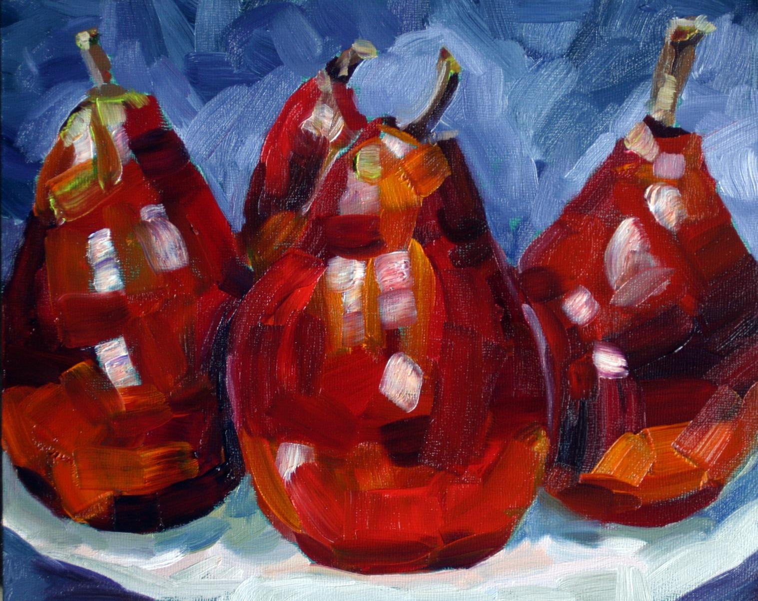 """Patchwork Pears"" original fine art by Kristen Dukat"
