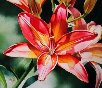 """""""Sunburst"""" original fine art by Jacqueline Gnott, whs"""