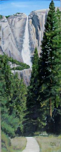"""Yosemite Falls"" original fine art by John F McGowan"
