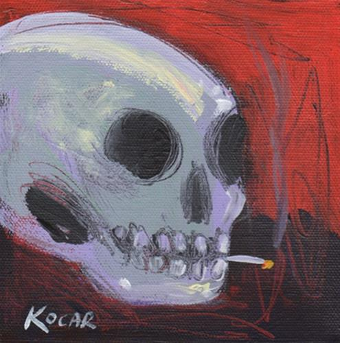 """Smoker  #106"" original fine art by George Kocar"