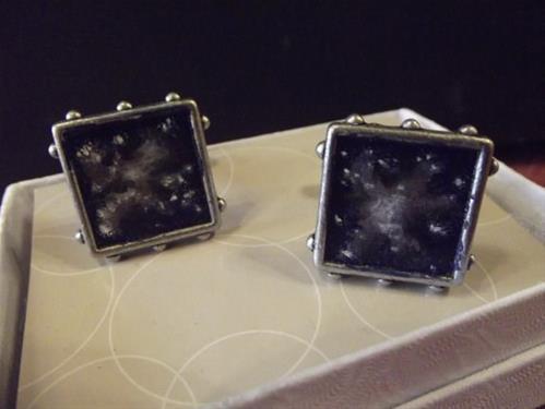 """Nebula Cuff Links"" original fine art by Amy VanGaasbeck"