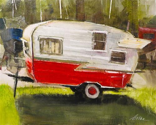 """Vintage Shasta"" original fine art by Beth Bathe"