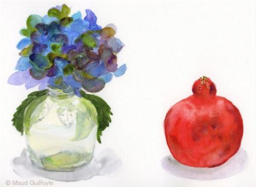 """Flowers for art still life set up from Trader Joes"" original fine art by Maud Guilfoyle"