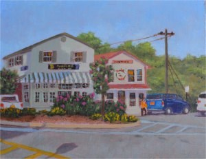 """The Hole in the Wall Cafe"" original fine art by Robert Frankis"
