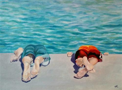 """""""Bottoms Up"""" original fine art by Dana C"""