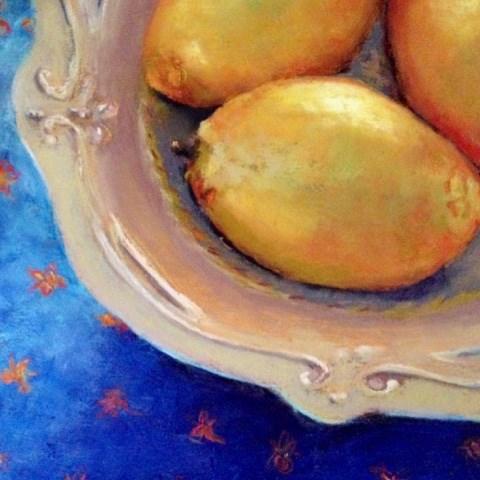 """Maddie's Bowl of Lemons"" original fine art by Cindy Gillett"