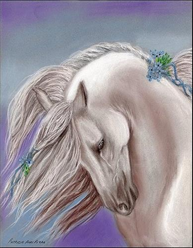 """The Andalusian"" original fine art by Patricia Ann Rizzo"