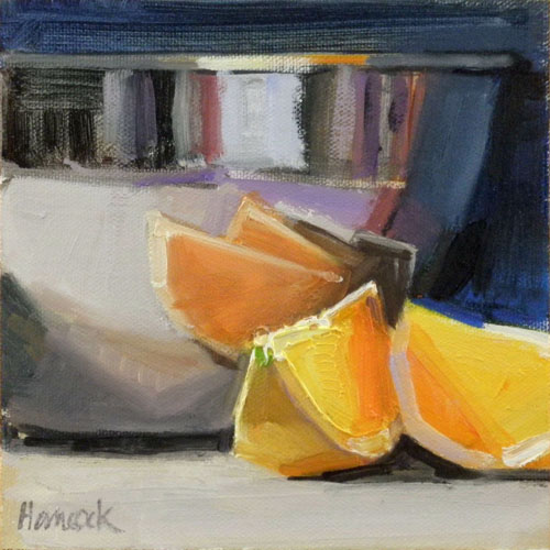 """Shiny Bowl Reflections"" original fine art by Gretchen Hancock"