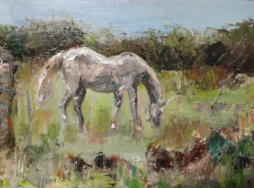 """HORSE,3"" original fine art by Run-      Zhang Zane"
