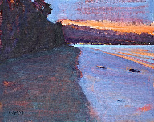"""Dawn, Santa Barbara"" original fine art by Kevin Inman"