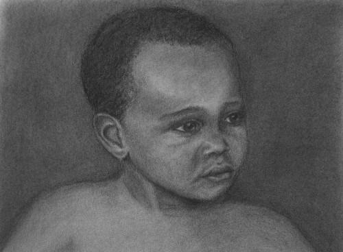 """African Child"" original fine art by Amy VanGaasbeck"