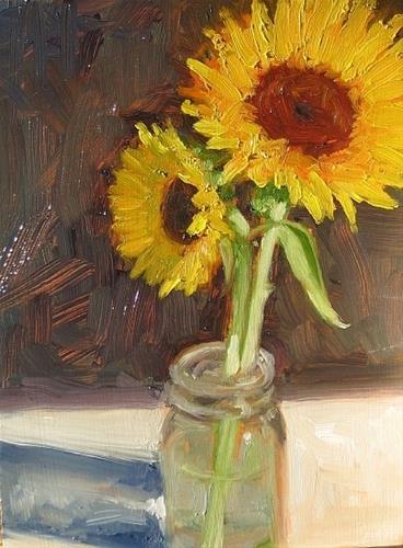 """sunflowers"" original fine art by Dan Graziano"