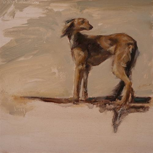 """Day 10 - Saluki"" original fine art by Kathleen Coy"