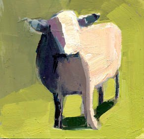 """#1013 Saturday's Sheep"" original fine art by Lisa Daria"