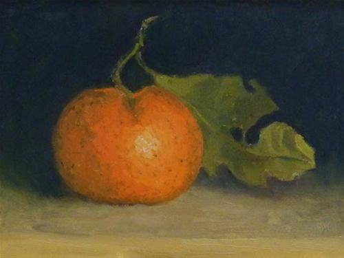 """Mandarin with Ragged Leaf"" original fine art by Bobbi Heath"
