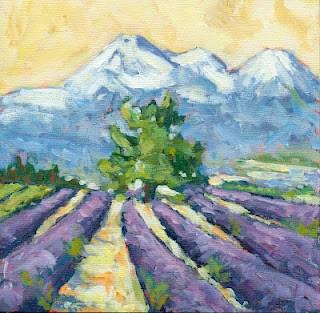 """lavender field"" original fine art by Shelley Garries"