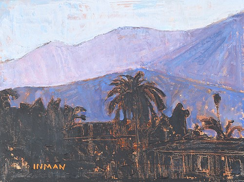 """Mountains, Santa Barbara"" original fine art by Kevin Inman"