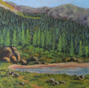 """The Trail to Williams Lake"" original fine art by Robert Frankis"