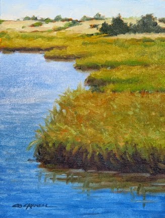 """'Chappaquiddick Marshes II' An Original Oil Painting by Claire Beadon Carnell 30 Paintings in 30 Day"" original fine art by Claire Beadon Carnell"