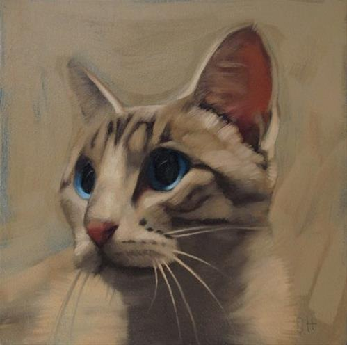 """Sheba II"" original fine art by Diane Hoeptner"