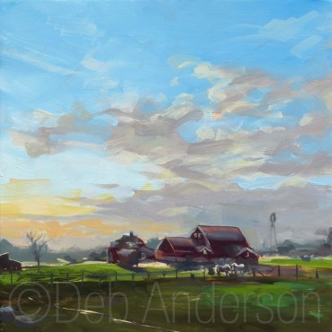 """""""Oil Painting: Wagner Morning"""" original fine art by Deb Anderson"""