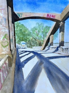 """Bridge Shadows"" original fine art by Dana Richards"