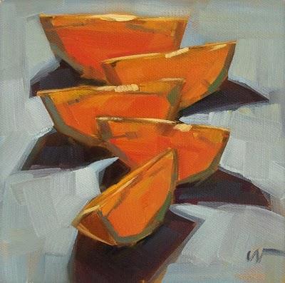 """""""Backlit Orange --- SOLD"""" original fine art by Carol Marine"""
