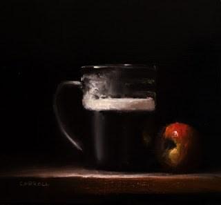 """Stout and Apple"" original fine art by Neil Carroll"