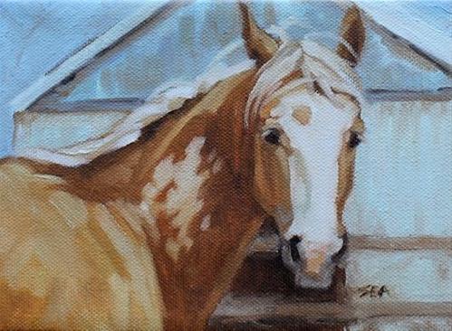 """''Palomino Paint''"" original fine art by Susan Ashmore"