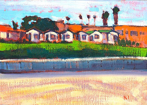 """Beach Cottages, OB"" original fine art by Kevin Inman"