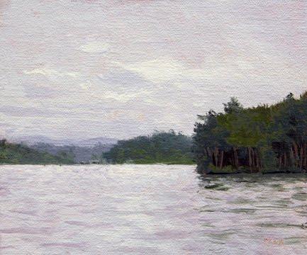"""Maine Lake, 2011"" original fine art by Abbey Ryan"