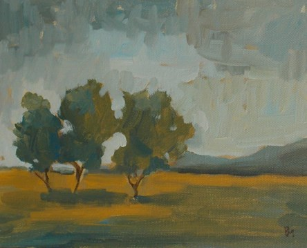"""Three Trees"" original fine art by Pamela Munger"