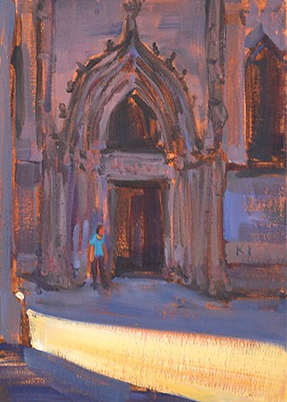 """Barcelona Cathedral"" original fine art by Kevin Inman"