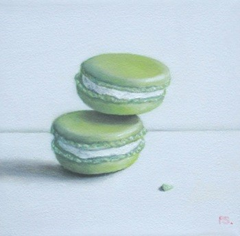 """Lime Macaroons"" original fine art by Pera Schillings"