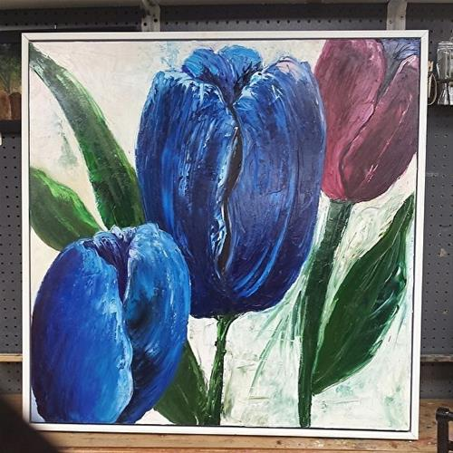 """Tulips on Tulips"" original fine art by Barbara Haviland"