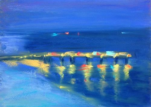 """Plein air by Night"" original fine art by Karen Vanderpool"