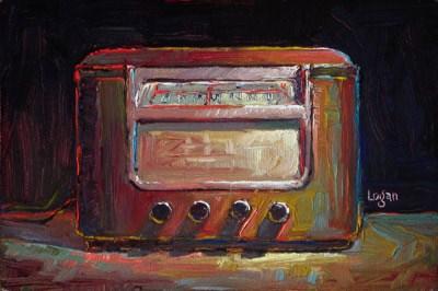 """Gloria's '46 Sentinel Radio"" original fine art by Raymond Logan"