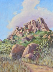 """Foothills Trail"" original fine art by Robert Frankis"