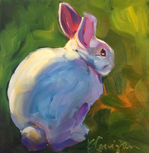 """""""Bunny In The Sun"""" original fine art by Kat Corrigan"""