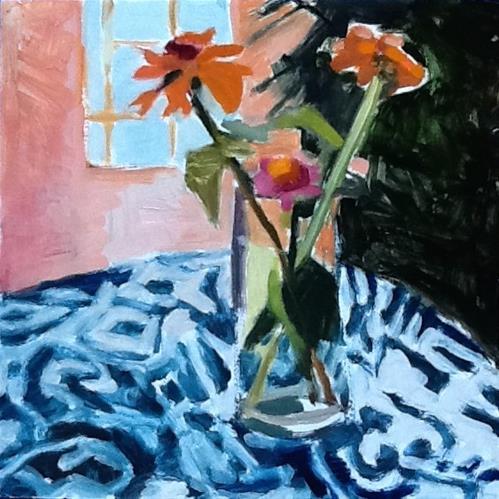 """""""Matisse Zinnias"""" original fine art by Pamela Hoffmeister"""
