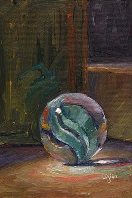 """Marble Aqua"" original fine art by Raymond Logan"