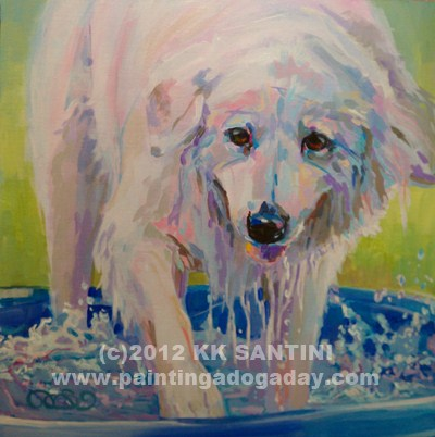 """Come On In, The Water's Perfect"" original fine art by Kimberly Santini"