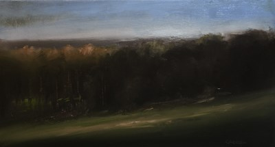 """View Over Radlett - Plein Air"" original fine art by Neil Carroll"