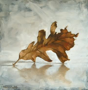 """Fall Leaf No.4"" original fine art by Michael Naples"