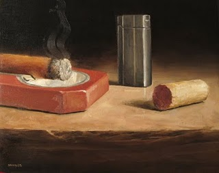 """Cigar Time"" original fine art by Michael Naples"