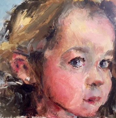 """Innocence"" original fine art by Marcia Hodges"