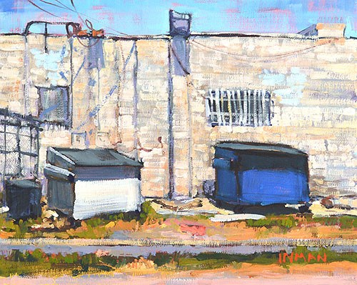 """The Dumpsters"" original fine art by Kevin Inman"