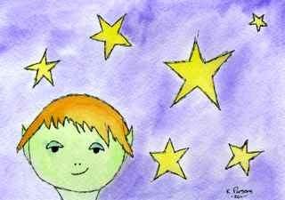 """Alien among the Stars"" original fine art by Kali Parsons"
